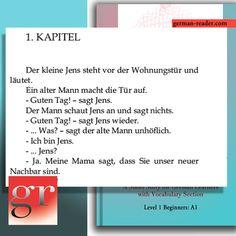 """Try this short text excerpt from the book """"German Reader, Level 1 Beginners (A1): Jens und der Nachbar. If you can read this, it fits already in your learning concept! #german #germanreader #germanlearning #germanlearners #learnersofgerman #germanstudent #stundentofgerman #germanist #easytextgerman #easygerman #readability #germanreadability #speakgerman #ispeakgerman #icanspeakgerman #ilovegermanlanguage #deutschfürfremde #deutschfürenglischsprachige #germanenglish #englishgerman #excerpt"""