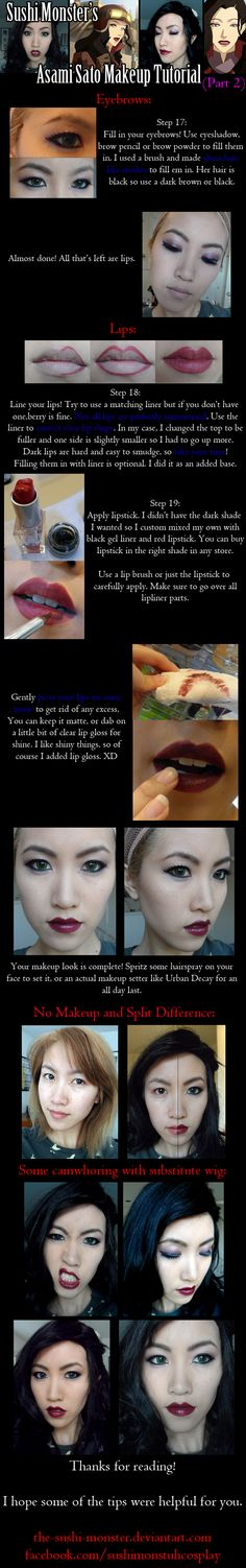 Asami Sato Makeup Tutorial Part Two by ~the-sushi-monster on deviantART