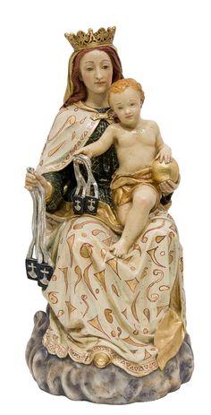 Imágenes de la Virgen Vírgenes Alabastro Virgen del Carmen en alabastro moldeado. 66 cms.