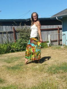 COLoRful icE dyED skiRT gYPsy BOHo skiRt hiPPie clothing maxi tie dye dance festival party edm skirt party skirt twirl flowy airy by LunabeanShoppe
