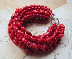Mia Bella Collection: bracelet - coral, seed beads & sterling silver, $150    Another of my all-time favorite bracelets!