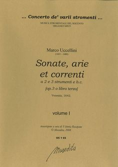 Sonate, arie et correnti op. 3 (Venezia, 1642)