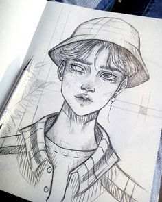 23 Ideas Drawing Sketches Pencil Creative Inspiration For 2019 Kpop Drawings, Cool Art Drawings, Pencil Art Drawings, Art Drawings Sketches, Drawing Art, Drawing Ideas, Mona Lisa Drawing, Marker Drawings, Weird Drawings