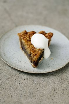 Walnut Cherry Oat Butter Tart Pie