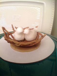 Love birds fondant cake topper All edible!