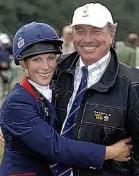 Zara with her dad, Captain Mark Phillips.