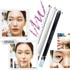 "Elle Magazine Korea May 2013: ""Draw a Line: Eyeliners"" features the Clio Gelpresso Waterproof Pastel Upper Liner (#2) in #4 Peace One Day! #clio #ellemagazine #ellekorea #gelpresso #eyeliner #pastel #waterproof #upperliner #eyemakeup #makeup #beauty #kbeauty #koreancosmetics #beautytrend #cosmetics #shopping #waterproofmakeup #clubclio #clubcliousa #springmakeup #koreabeauty"