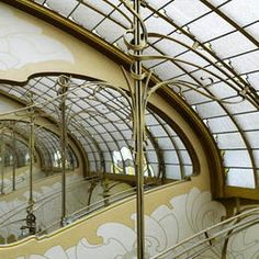 Skylight & mirrors on the top floor of Musee Horta. Brussels - Architect Victor Horta.