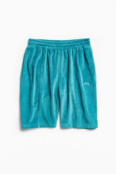 Slide View: 1: Stussy Piped Velour Short