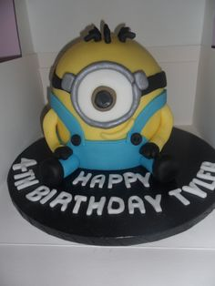 minion cake with a different mouth