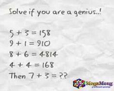 Solve if you are a genius..! #Репетитор по математике #Киев Учебный центр по #математике MegaMozg. Подготовка к #экзаменам: #математика, #ЗНО, #GMAT, #SAT, #IB #GCSE, #YOS #Bocconi