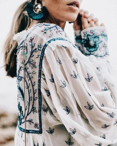 Pretty embroidered blouse.
