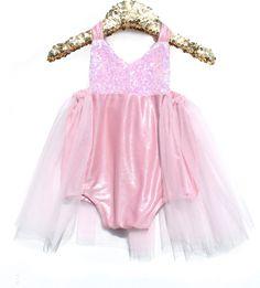 #bellethreadspinterest Pink Belle Princess Sparkle Romper READY TO SHIP