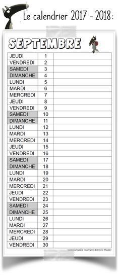 Calendrier 2017/2018 - Le Loup - Validées