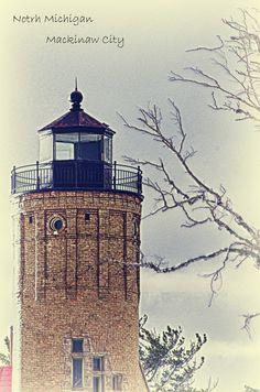 """""""Mackinaw City--Light house"""" by Miao Shu, via 500px."""
