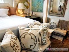 New Orleans' interior designer Gerri Bremermann's bedroom design at her Magazine Street shop and studio. | The Decorating Diva, LLC
