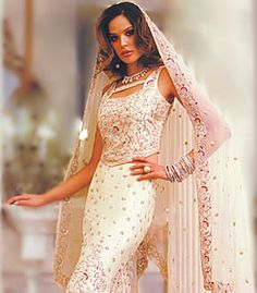 D1767 Cream Goose Wedding Dresses, Modern Desi Bride Wedding Dresses Retail Store Online Bridal Wear