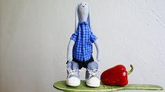 Bunny toy Rabbit toy Grey  stuffed bunny gift  handmade by ToysK5