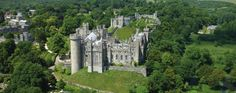 """Arundel Castle in Sussex. Built at the end of the 11th century, seat to the Dukes of Norfolk. Click on the """"castle"""" description and check out the fireplace with the coat of arms."""