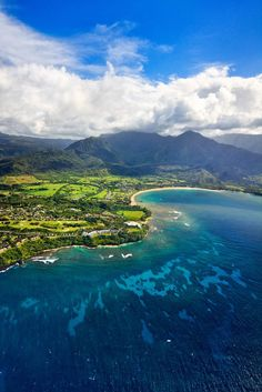 Hanalei Bay and Princeville, Kauai, Hawaii