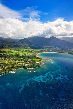 Hanalei Bay and Princeville, Kauai, Hawaii