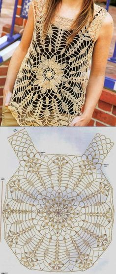 Lacy Tunic - Free Crochet Diagram - (postila)