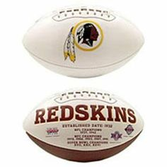 Washington Redskins Embroidered Signature Series Football by NFL. $23.99. Great for Autographs!!. This football features an embroidered primary logo and embossed team history. This football has three white panels and one synthetic leather panel. A timeless classic football with timeless appeal. Great for autographs!