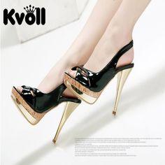 Designer-Damen-Schuhe-Sandalen-High-Heels-Schwarz-Gold-1A-Qualitaet-UVP-39-50