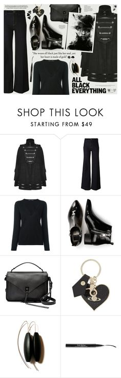 """Enter contest Draft Saved Open New       WomenMenHomeMy ItemsCollectionsContest Mission Monochrome: All-Black Outfit"" by katarina-blagojevic ❤ liked on Polyvore featuring PS Paul Smith, Proenza Schouler, Dolce Vita, Rebecca Minkoff, Vivienne Westwood, Trish McEvoy and allblackoutfit"