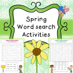 Spring Word Search Activity PrintablesIncludes;Easy word search (2 pages)Hard word search (1 page)No prep, just print and hand to students! Great for early finishers, time fillers etc. all linked to spring topic.This product is included in my spring bundle found here
