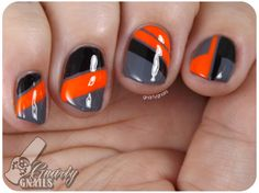 Love the color combo and all the angles! Gnarly Gnails: Nail-Art-A-Go-Go Day 6 - Neon