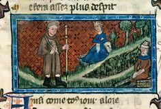 Aix-en-Provence - BM - ms. 0110, f. 95. Pèlerinage de vie humaine - Guillaume de Digulleville. Latter half of 14th century.