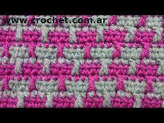 Punto Fantasía N° 16 en tejido crochet tutorial paso a paso. - YouTube
