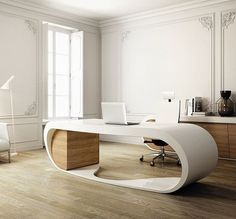 Stunning #home #office design for those who love #minimalism with a twist