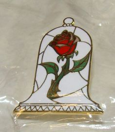 DISNEY Beauty and the Beast Rose in Bell, Trading Pin, New in Wrapper - RARE