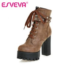 >>>Smart Deals forESVEVA Square High Heel Shoes Women Punk Motorcycle Boots Lace-up Rivets Ankle Boots Platform Ladies Fashion Boot Size 34-43ESVEVA Square High Heel Shoes Women Punk Motorcycle Boots Lace-up Rivets Ankle Boots Platform Ladies Fashion Boot Size 34-43Sale on...Cleck Hot Deals >>>  http://id584076912.cloudns.pointto.us/32702054477.html