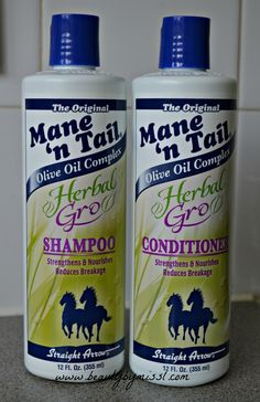 Mane n Tail Herbal Gro shampoo and conditioner which are promised to nourish and strengthen hair via @beautybymissl  #review #haircare