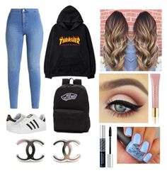 """Mood school💎"" by nomemiii-riguzzi on Polyvore featuring moda, adidas, Vans, AERIN e Christian Dior"