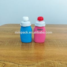 High quality custom baby food silicone bottle with cap