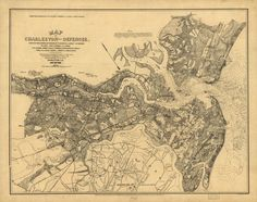 Map of Charleston and its defences | Library of Congress