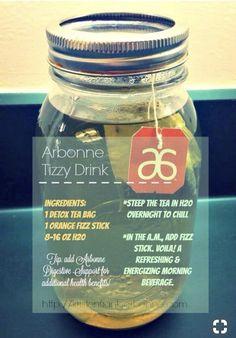 Tizzy Drink recipe featuring Fizz sticks and herbal detox tea. Tizzy Drink recipe featuring Fizz sticks and herbal detox tea. Arbonne 30 Day Challenge, Arbonne 30 Day Detox, Arbonne Cleanse, Detox Tee, Detox Tea Diet, Cleanse Detox, Detox Foods, Detox Meals, Bath Detox