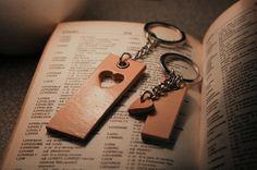 2xHeart Keychain, Couple Keychain, Leather Heart Keychain,Engraved keychain,sweetheart keychain,engravable keychain,Matching keychain,keyfob...