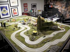 A DREAM OFFICE  Located somewhere in Toronto, this office is complete with a custom, gigantic RC Race Car Track.