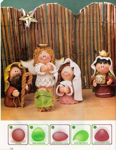 Discover recipes, home ideas, style inspiration and other ideas to try. Christmas Clay, Christmas Crafts, Xmas, Clay Crafts, Diy And Crafts, Nativity Crafts, Clay Figurine, Pasta Flexible, Polymer Clay Creations