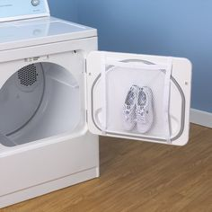 Gotta be quiet for the neighbors..buy one of these ingenious sneaker dryer bags.