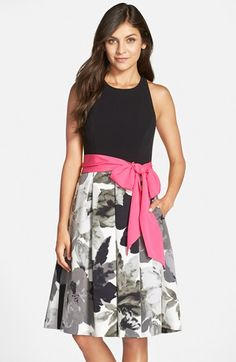 Eliza J Stretch Crepe Fit & Flare Dress available at #Nordstrom