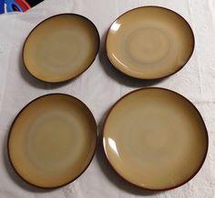 Sango China/ Sango Nova Brown Dinner Plates/ Set of Four by RadiogirlCarolyn on Etsy & Sango Nova Brown Chop Plate/ Serving Platter 12