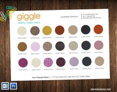 colour sheet template,wholesale line sheet with colour swatches, product colour…