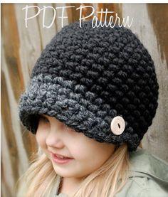 Crochet PATTERN-The Easton Cap Toddler Child and di Thevelvetacorn