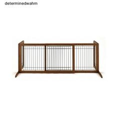 Freestanding Pet Gate Indoor Dog Wooden Adjustable Folding Safety Extra Wide